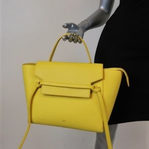Celine Mini Belt Bag Yellow Grained & Smooth
